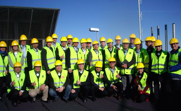 Delegation from SE Asia on top of the recovery boiler at Stora Enso, Skoghall, Oct 5, 2016[2].JPG